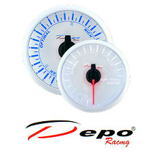 DEPO racing 52 mm Blue / White LED Transparent Lens Air Fuel Ratio AFR Gauge