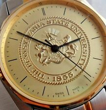 Clean Men's Penn State University Swiss College Watch With Box & Paper Near Mint