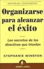 Organizarse Para Alcanzar El Exito  Organized for Success (Spanish Edi-ExLibrary