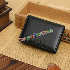 New Genuine Leather Men's Small Id Credit Card Wallet Holder Slim Pocket Case