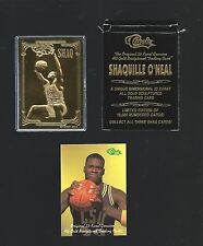 SHAQUILLE O'NEAL 1994 Classic 23 Kt Gold Card -  #d / 10,000 in box w/ COA SHAQ