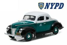 GREENLIGHT 1:18 1940 FORD DELUXE COUPE CITY OF NEW YORK POLICE DIECAST CAR 12972