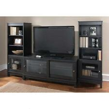 "Black Entertainment Center TVs to 55"" Set Stand Audio Media Gaming Console Game"
