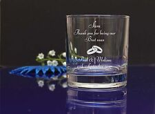 Thank you for being our Best Man engraved whisky glass Wedding favor, present262