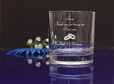 Grazie per essere il testimone incisi Whisky Vetro Per Matrimonio Favor, regalo 262