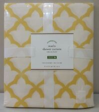 NIP Pottery Barn Yellow Marigold MARLO Cotton Fabric Shower Curtain 72""