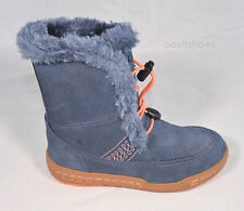 Ecco Girls Waterproof Hydra-Max Blue Suede Speedlace Boots UK 12.5 EU 31 RRP £64