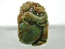 Mind Blowing JADE Jadeite DRAGON Sculpture FINELY Hand Carved GOOD LUCK Talisman