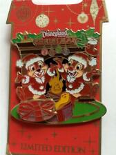 Disney Christmas 2008 Chip & Dale Presents Slider Pin NEW LE