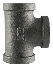 """3/4"""" BLACK MALLEABLE IRON TEE fitting pipe npt - LOT OF 10"""