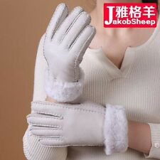 New Real Leather Sheepskin Mittens Gloves Thick Warm Women Winter Wholesale