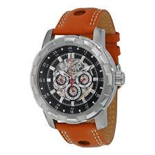 Akribos Automatic GMT Multi-Function Skeleton Dial Mens Watch AK557BR