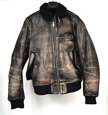 GAP Jacket Flight Bomber G 1 Leather Brown Vintage S Mens 54023