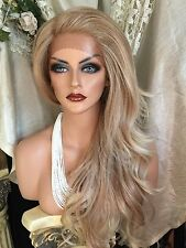 GORGEOUS Long, Light Blonde Blends,Lace Front With Deep Part, Heat Friendly Wig!