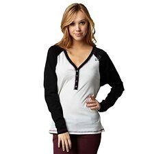 Fox Racing Women's Anxious Henley Long Sleeve Shirt / Heather Gray / XS