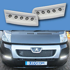 Daytime Running Lights DRL LED Pod Kit Fiat Ducato Boxer Relay Motorhome White