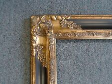 Picture Frame- Antique Ornate Dark Gold Bronze & Black Old Style- 8 x 10 #1238