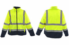 XXLARGE YELLOW/BLUE FLUORESCENT SOFTSHELL COAT JACKET HI-VIZ WORKWEAR 0108180