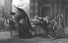 William Shakespeare Play MERCHANT OF VENICE SHYLOCK ~ 1873 Art Print Engraving