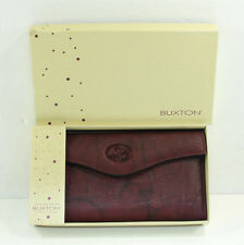 Buxton Womens Wallet Change Purse Pocket Organizer Top Grain Cowhide Leather New