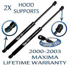 Two New Hood Lift Supports Shock Struts Props Arms Rods Damper Fits 00-03 Maxima