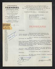"""VILLEFRANCHE (69) APPAREILS VITICOLES & AGRICOLES """"Ets. VERMOREL"""" en 1951"""