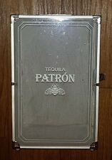 VINTAGE PATRON TEQUILA ALUMINUM AND CHROME DISPLAY / CARRYING CASE