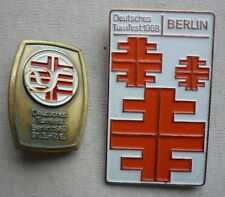 2 Plaketten Deutsches Turnfest Berlin 1987 u. 1968 - TK230-0217