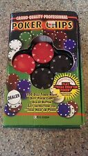 CASINO QUALITY PROFESSIONAL POKER CHIPS 100 DUAL TONED HEAVY DUTY CHIPS IN BOX