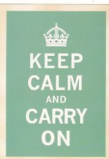 "*Postcard-""Keep Calm and Carry On"" /Famous Quote/ (#83)"