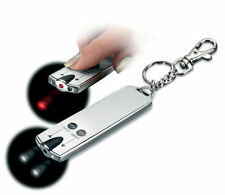 Pocket  2 LED Torch Lights with Keychain laser & pouch Super Bright Flash light