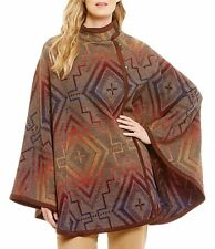 PENDLETON Mesquite Sunset Cross Pattern Wool Jacquard Cape NWT Poncho Blanket