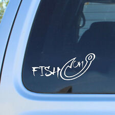 Hot Fish on Hook Vinyl Car Truck Boat Water Hunting Decal Sticker Window Fishing