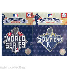 2015 MLB World Series new York Mets & Kansas City Royals Champion Patch Combo