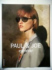 PUBLICITE-ADVERTISING :  PAUL & JOE Eyewear  2016 Lunettes