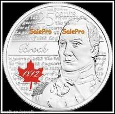 CANADA 2012 CANADIAN QUARTER NEW ISAAC BROCK RARE COLORIZED 25 CENT COIN UNC