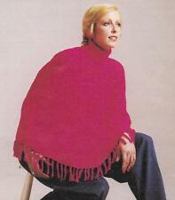 CAPE STYLE PONCHO / 8ply or DK - COPY Ladies knitting pattern