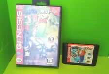 SEGA GENESIS 16 Bit EARTHWORM JIM Video Game *Tested*