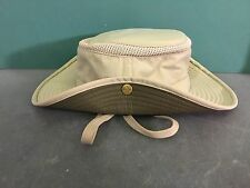 Tilley Endurables AIRFLO Hat LTM3 Size 7  Tan/Olive  Tie-On Snap Up Brim UPF 50