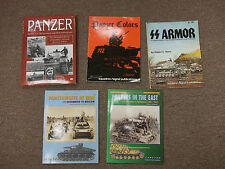 Panzer book lot concord signal publications colors SS armor panzerwaffe at war