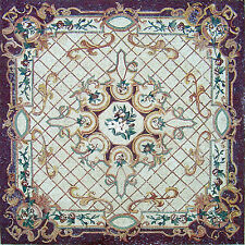 "80"" Handmade Carpet/Rug Floor Elegance Wall Design Home Marble Mosaic Art Tile"