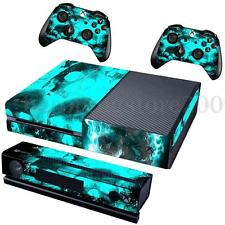 Blue Skull Cover Decal Skin Sticker For Xbox One Console + 2 Controller + Kinect