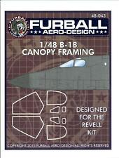 Furball Decals 1/48 ROCKWELL B-1B LANCER WHITE CANOPY FRAMING