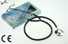 Capo unico stethoscope NERO, medici, studenti, infermieri, EMT, CE-NUOVISSIMO