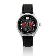 (L015) ACDC Rock Band Leather Strap Wrist Watch