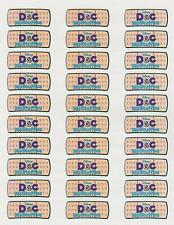 "30 Doc McStuffins Band Aid Labels / Stickers, 1"" x 2-5/8"""