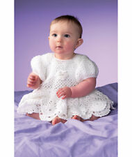 Gorgeous Scalloped & Layered Baby Dress 0 - 12 Months Crochet Pattern