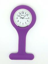 Nurse fob watch by Ravel purple R1103.7