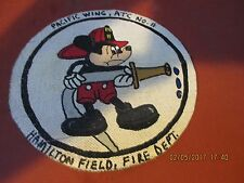 WWII  DISNEY MICKEY MOUSE HAMILTON ARMY AIR FIELD FIRE DEPT FLIGHT JACKET PATCH
