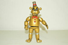 TOY MEXICAN FIGURE FREDDY GOLDEN FIVE NIGHTS AT FREDDY'S ANIMATRONICS TERROR .
